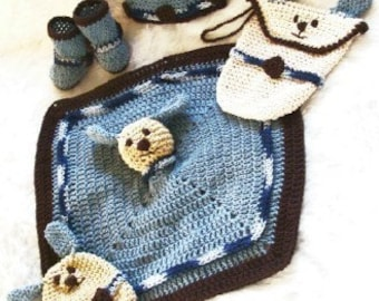 Baby Shower Gift Set to Crochet Pattern PDF 408 with instructional video included