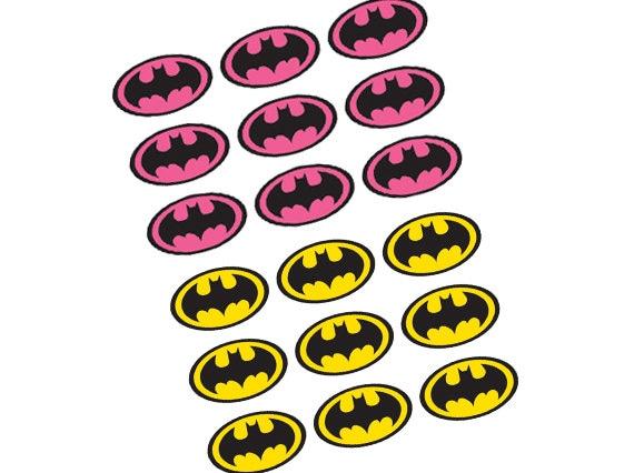 batman birthday party diy printable pdf pink or yellow batman logo rh etsystudio com printable batman logo for cake printable batman logo for cake