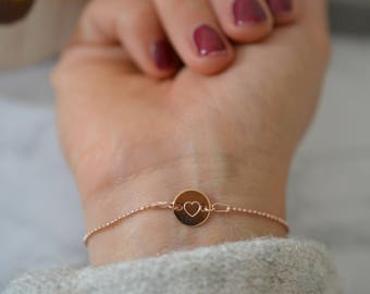 Rose ' Gold ball kettenarmband with Gravurplättchen