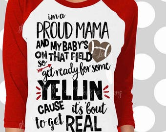 Proud Mama, Football Mom svg, mom dxf, eps, png, Football Mama svg, Football svg, svg files, iron on decal, Football team svg, png