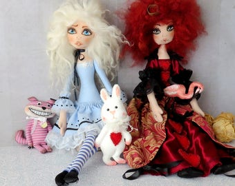 5-in-1 Patterns Alice in Wonderland Queen of Hearts Cat Cheshire The White Rabbit Flamingo