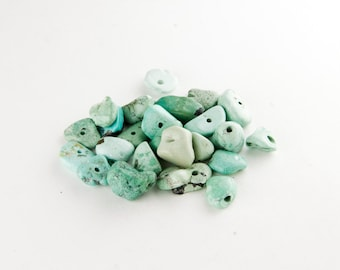 Natural Turquoise Pebble Nugget Beads (11mm)