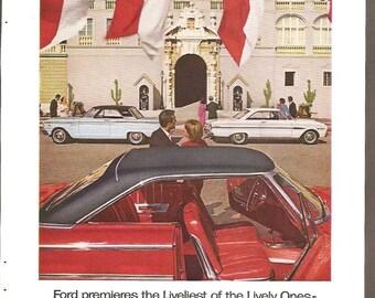 1963 1/2 Ford ~ Original Ad ~ Falcon ~ Fairlane ~ Super Torque