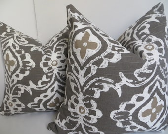 Decorative Pillow, Taupe Pillow cover, White Taupe Pillow Cover, taupe Pillow, Brown Pillow, White Pillow, Pillow Cover, Accent pillow