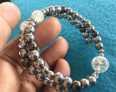 Glass and metal beaded br...