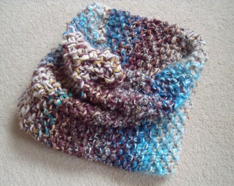 Extra thick wintercol in beige, blue and brown (circumference 80 cm, height 30 cm)