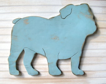 English Bulldog signe chien maison Decor Bulldog anglais Bulldog Art Decor Bulldog cadeau Bulldog en bois cadeau pour animaux de compagnie American Bulldog British Bulldog