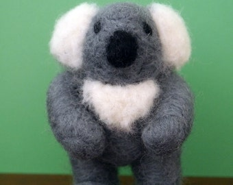 Amos Koala Needle Felted Figurine