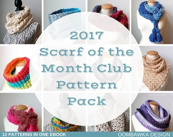2017 Scarf of the Month Club Pattern Pack