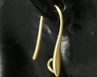 20 pcs  21 mm raw brass earring hook with loop 1261