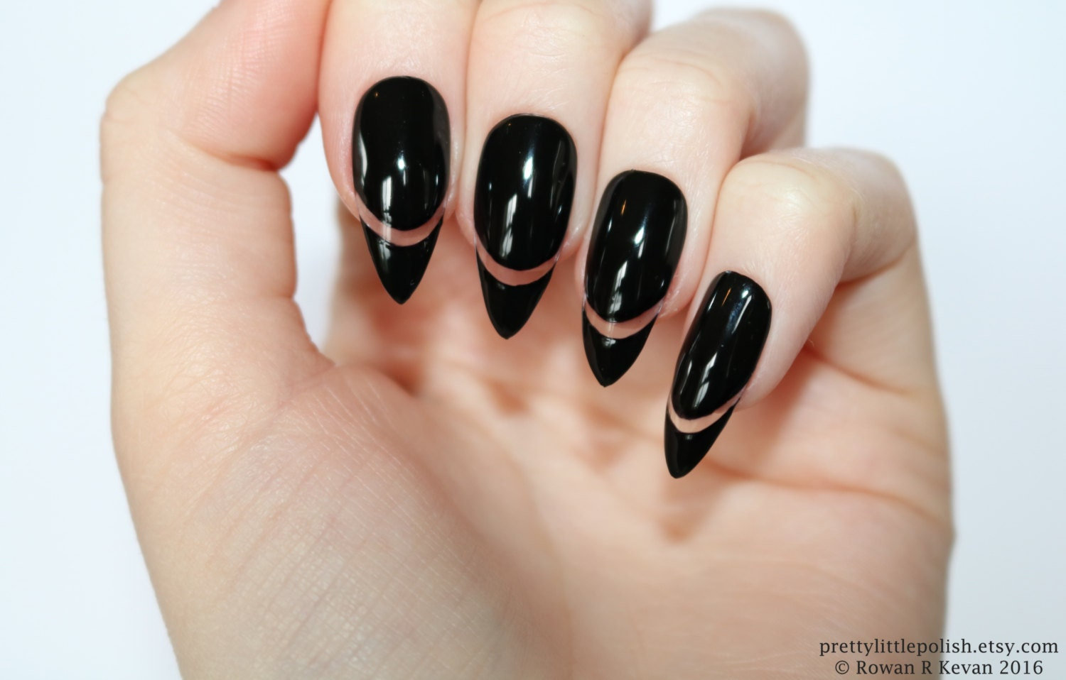 Beautiful Pointy Fake Nails Mold - Nail Art Ideas - morihati.com