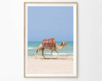 Camel Photography Printable Wall Art, Desert Animal Print, Digital Download, Boho Nursery Decor, Moroccan Decor, Boho Poster Prints, camc1c1