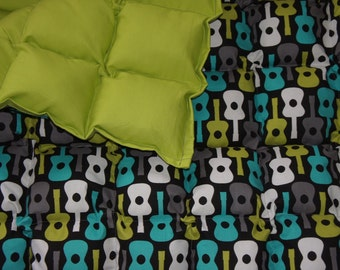 Guitar large/Adult  Sized Weighted Blanket great for calming your sensory child or you.
