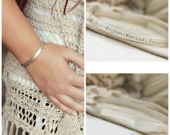 Custom Bracelet · Personalized Bracelet · Name Bracelet · Sterling Silver Cuff Bracelet · Personalized Jewelry · Custom Name Bracelet ·