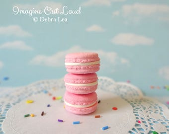 FAUX MACARON Set Strawberry Pink