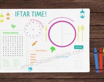Coloring Activity - Ramadan Placemat Kit (Set of 5)