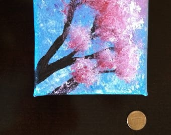 Small pink dogwood painting