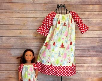 Dolly and Me christmas peasant dress, size 1-10, christmas dress