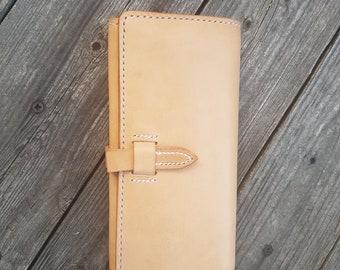 Leather wallet, wallet, purse