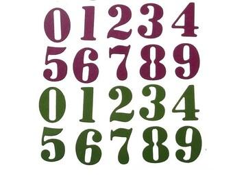 Cut scrapbooking 10 numbers
