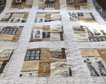 Custom,Machine,Sewing Theme Quilt