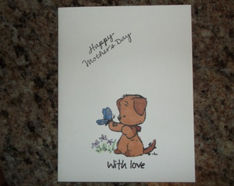 Handmade stamped Mothers Day greeting card