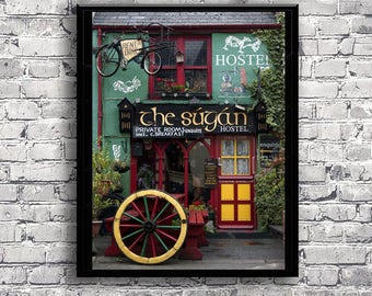 Irish pub photography download - Ireland photography - Pub decor - Colorful photo - Ireland print - Bar photography print - Digital photo