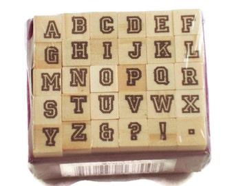 Mini Alphabet Rubber Stamp Set  (ARS-2)