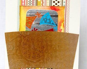 Greeting Card Gift: celebration time coffee sleeve holder