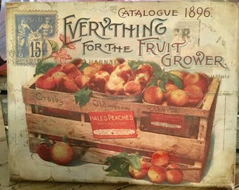 "8x10 Canvas print ""Everything For The Fruit Grower"""