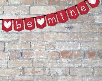 Valentine's 'Be Mine' Banner {Digital Download}