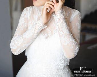 Lace Bridal Dress Topper #114, Bridal Shrug, Bridal Bolero, Wedding Dress Shrug, Wedding Dress Bolero, Custom Bolero, Custom Bridal Top