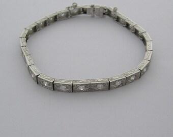 Antique Deco Straight Line Diamond Bracelet