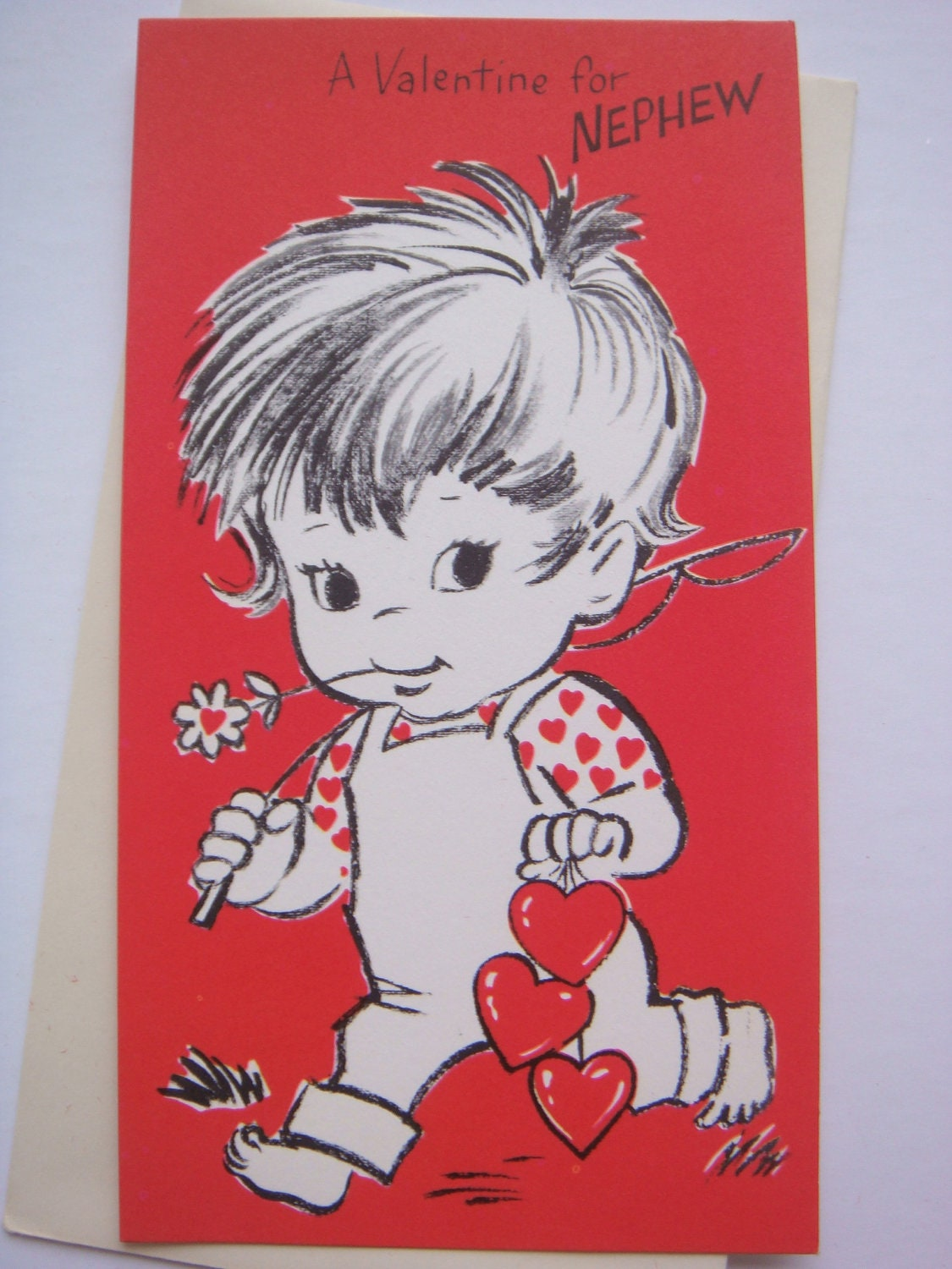 Vintage valentines day card for nephew juvenile zoom kristyandbryce Choice Image