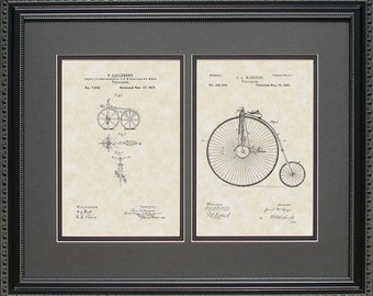 Early Bicycles Patent Art Bicyclist Rider Gift L7972-2