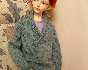 BJD Custom Handknit Cowl Neck Man's Sweater