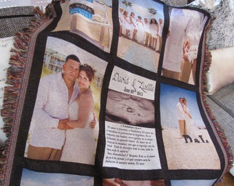 Heart Warming Personalized Blanket Photo Blanket Gift FREE SHIPPING