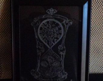 Etched in glass - Bones Hourglass