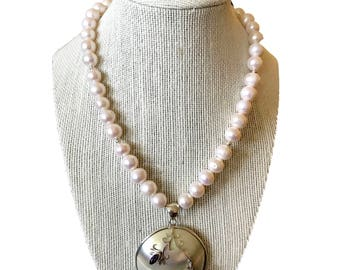 Sterling Silver Fresh Water Pearl Necklace (Free Shipping)