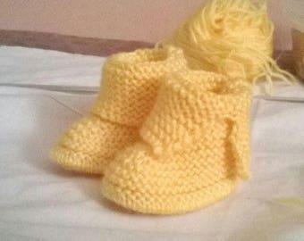 Little booties for newborn