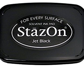 Ink pad for rubber stamps - black