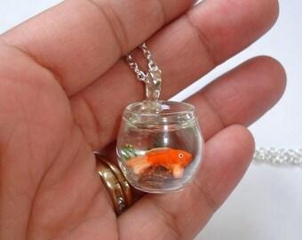 Floating Goldfish Necklace