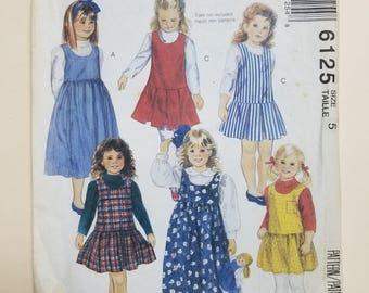 McCall's Pattern Child Size 5  #6125