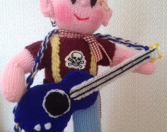 The Rock Band GUITARIST Toy Knitting Pattern