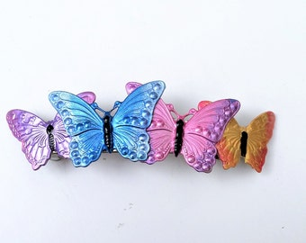 Hair Barrette with Butterflies, Nature Barrette