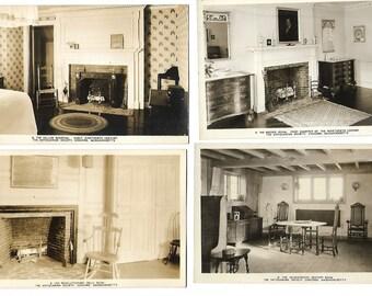 Twenty Vintage unused Postcards by Concord Mass Antiquarian Society