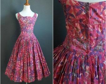 rare pink Alfred Shaheen butterfly print dress, 1950s alfred shaheen dress, novelty print dress, butterfly dress, medium tall size dress