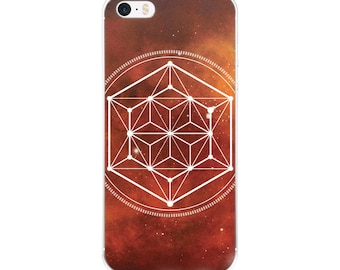 iPhone 5/5s/Se, 6/6s, 6/6s Plus Case - Sacred Geometry Orange 1 Phone Case