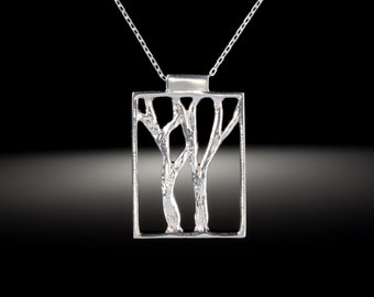 Sterling Silver Walk in the Woods Pendant