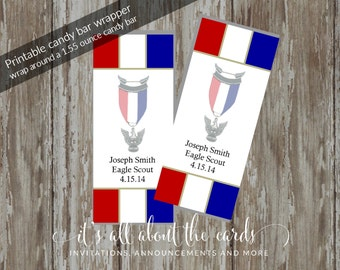 """Eagle Scout Court of Honor Candy Wrappers -""""Prepared"""" Customized Design"""